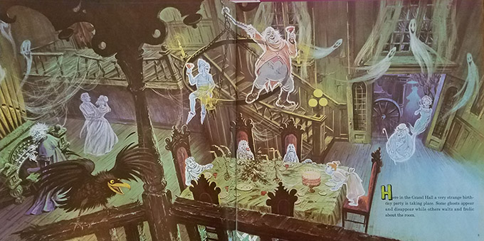 haunted mansion record illustrations