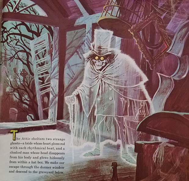 haunted mansion record hat box ghost