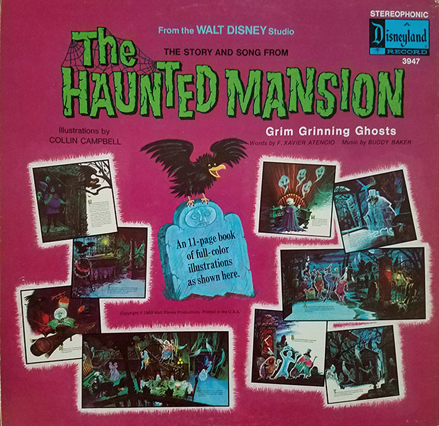 haunted mansion record back cover